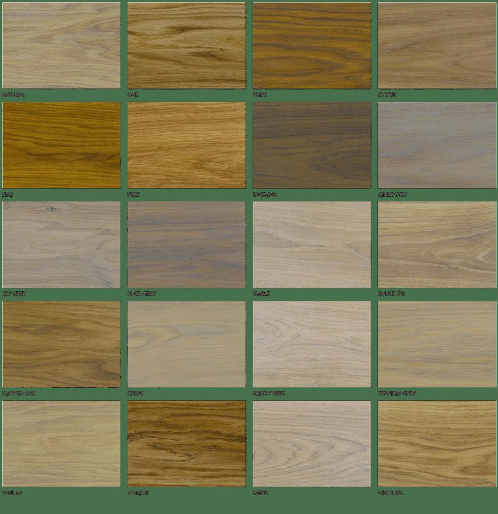 Kleurenkaart rubio monocoat